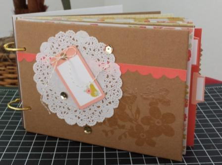 Mini scrapbook front