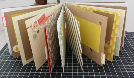 Mini scrapbook open