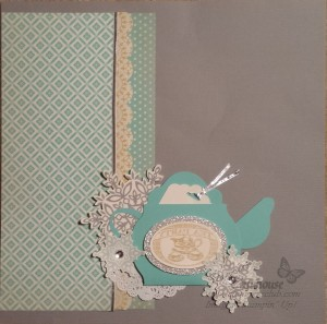 Tea Party Scrapbook Page