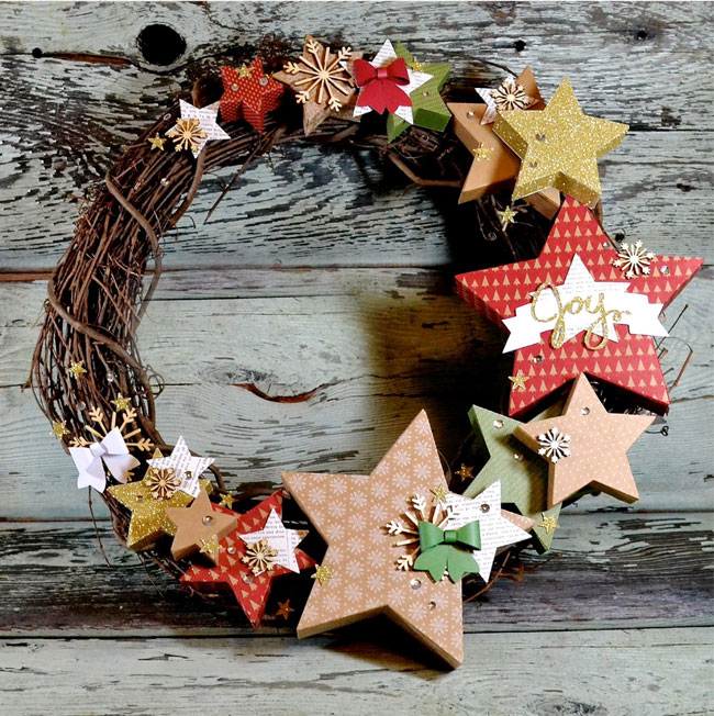 many merry stars wreath