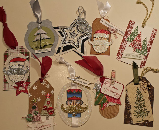 over the top christmas tags